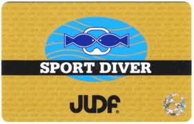 JUDFダイバー認定カード