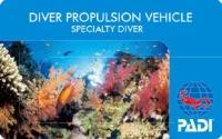 水中スクータスペシャルティーダイバー認定カード