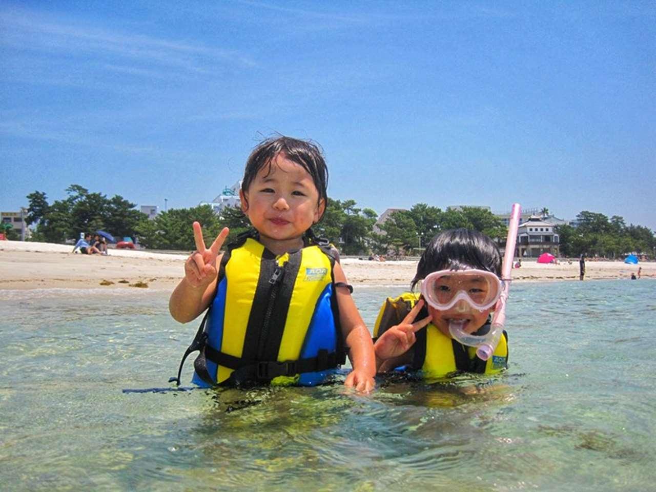 和歌山県南紀白浜で体験シュノーケリング姉妹1