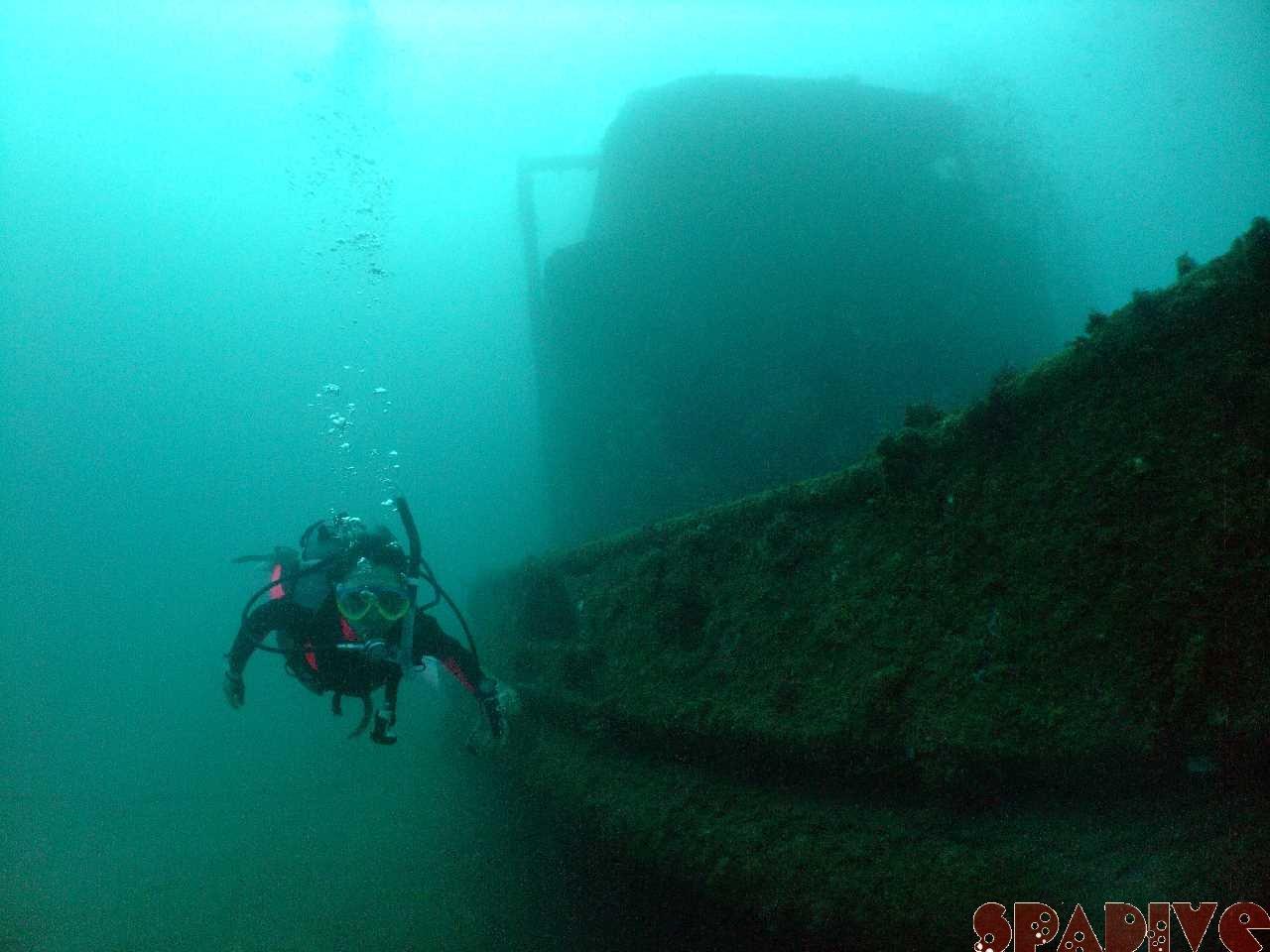 沈船 Wアーチ AOWコースボートダイビング 10/16/2011南紀白浜