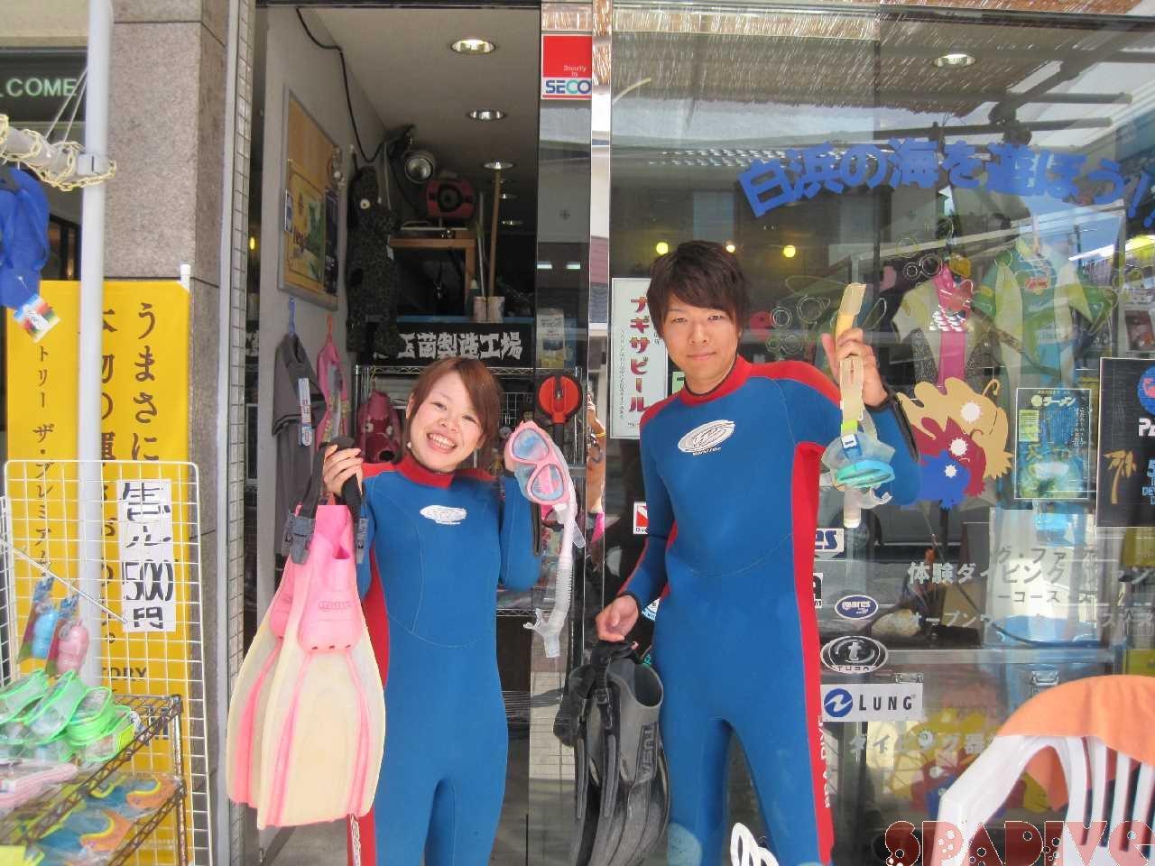 体験ダイビング 8/31/2012南紀白浜 権現崎
