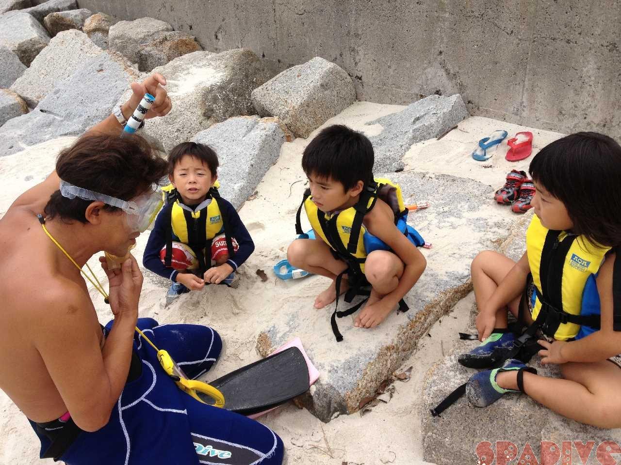 4-6歳保育園キッズと体験シュノーケリング 9/7/2013