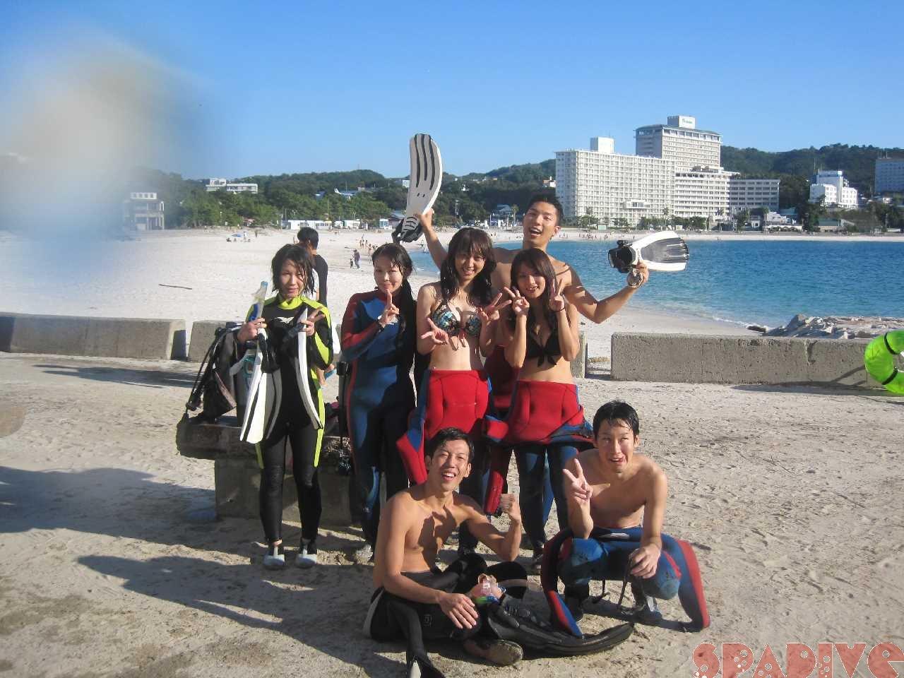南紀白浜海情報  権現崎 体験ダイビング 9/18/2013