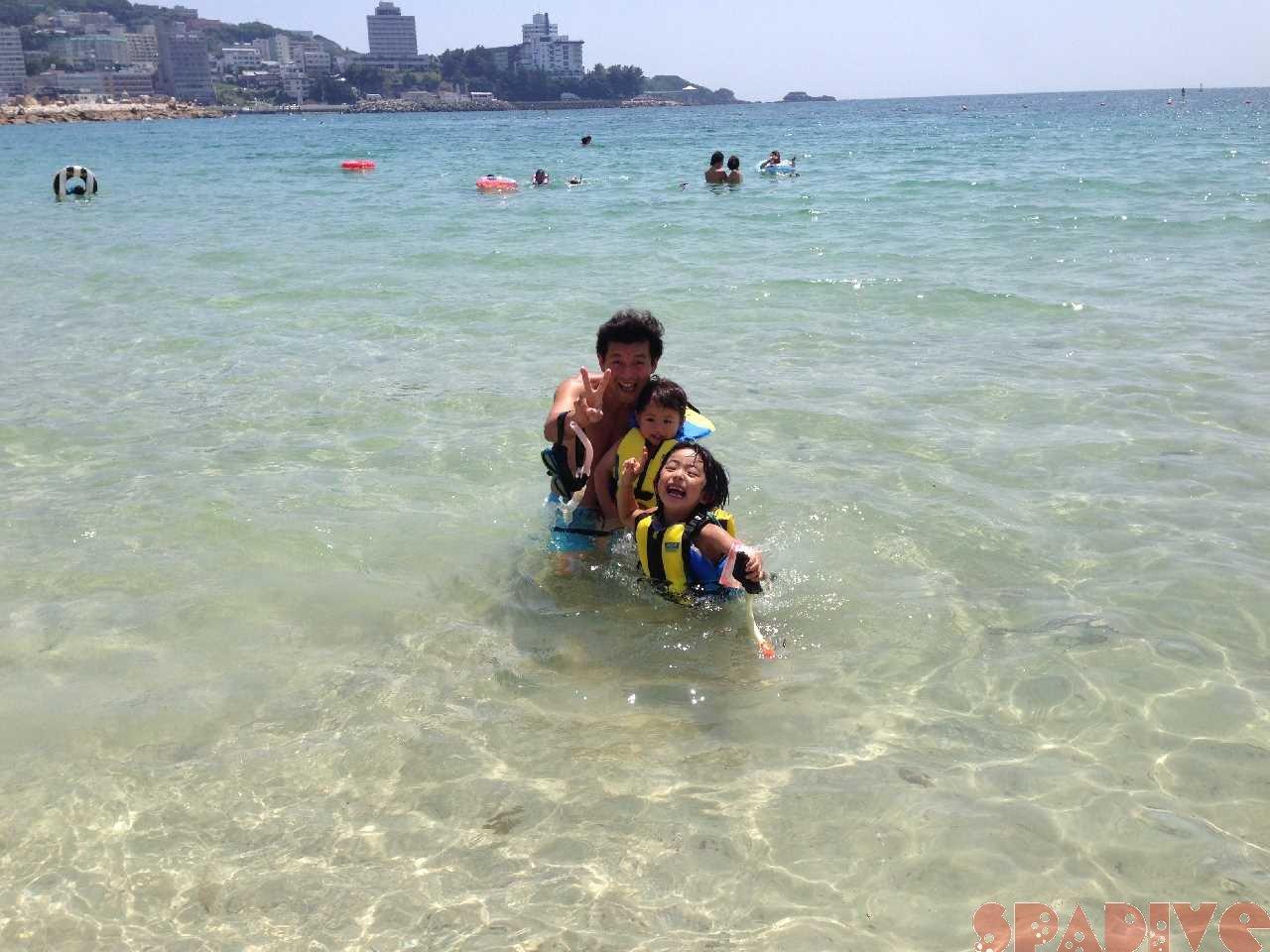 我が家の海開き!|6/29/2014白良浜海水浴場