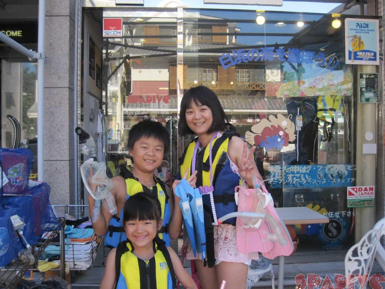 体験スノーケリング&ダイビング 7/20/2015