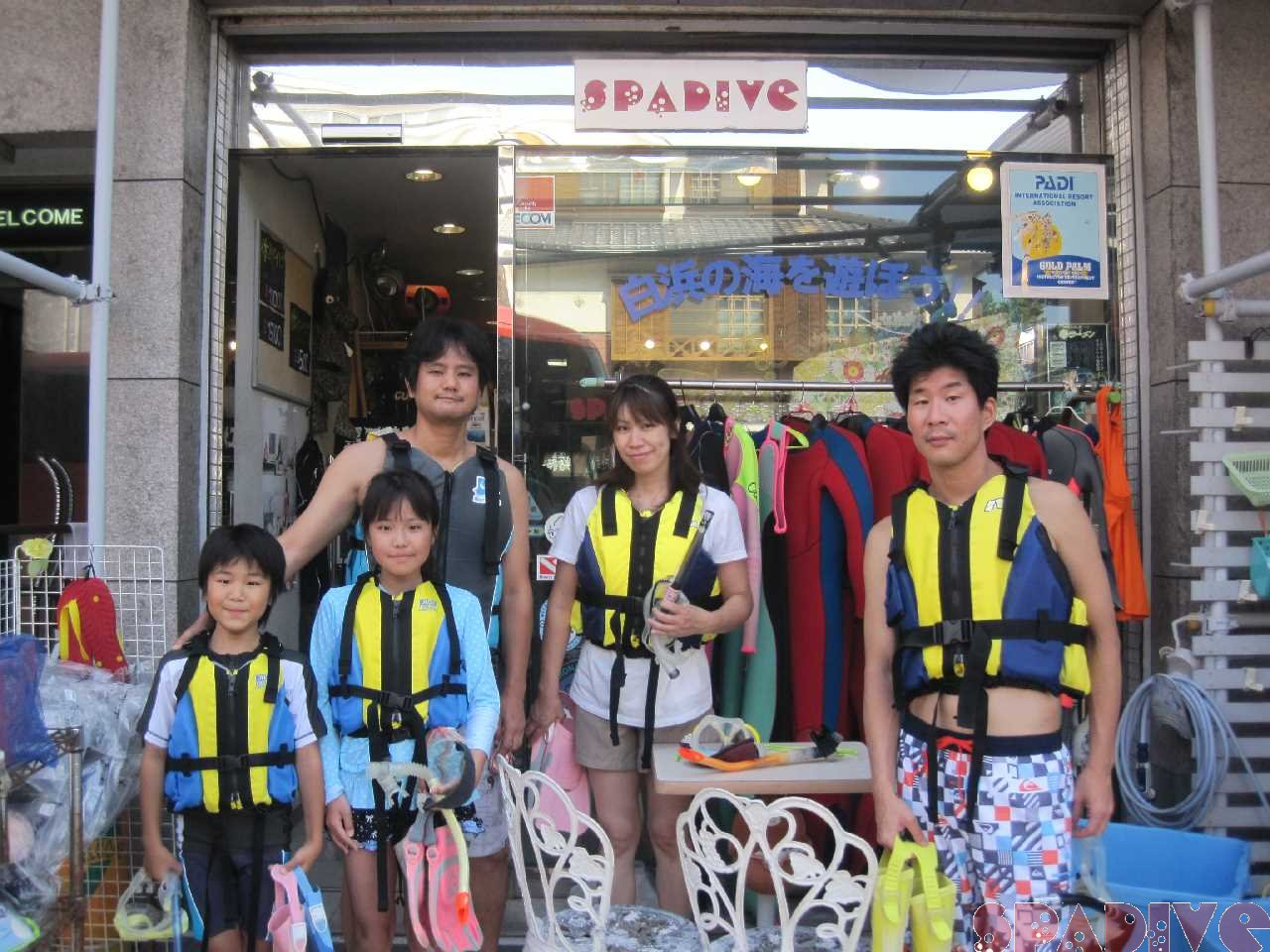 体験ダイビング&スノーケリング 8/9/2015