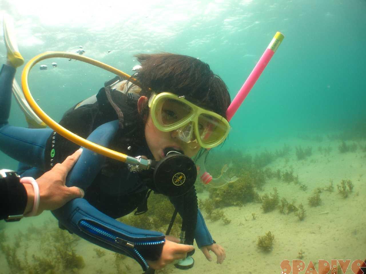 体験ダイビング!長女も!|『泡ビーチ』参加| 5/3/2016