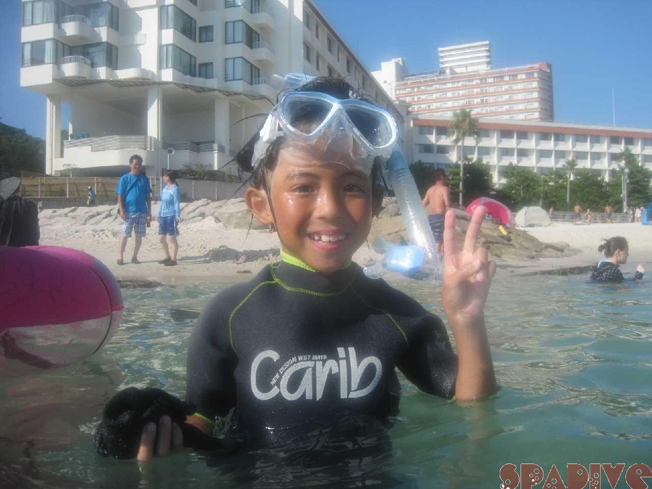 8歳お子様兄弟と体験ダイビング|シュノーケリング 8/4/2018