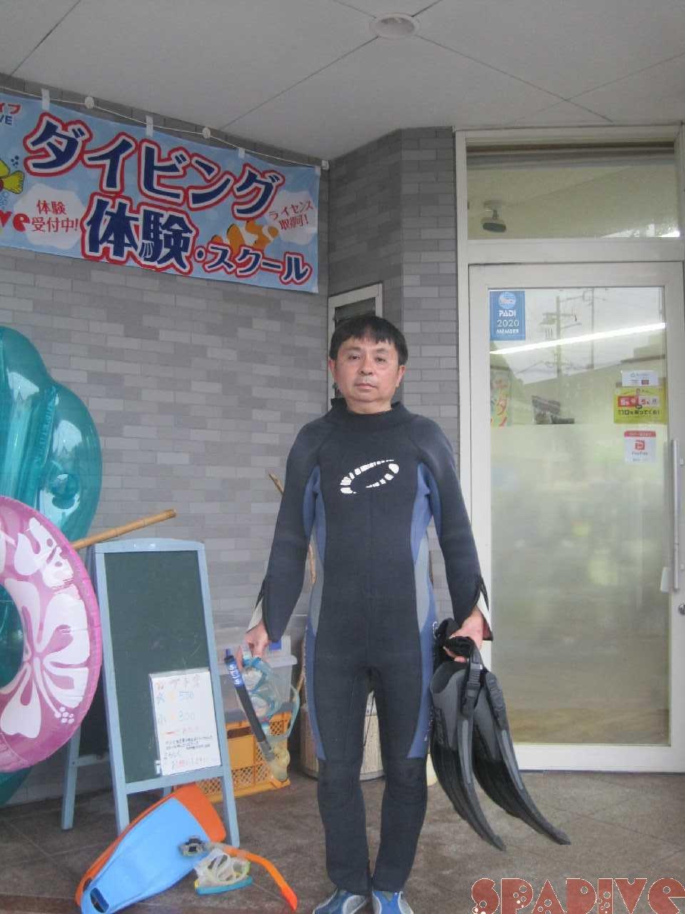 体験ダイビング店前画像