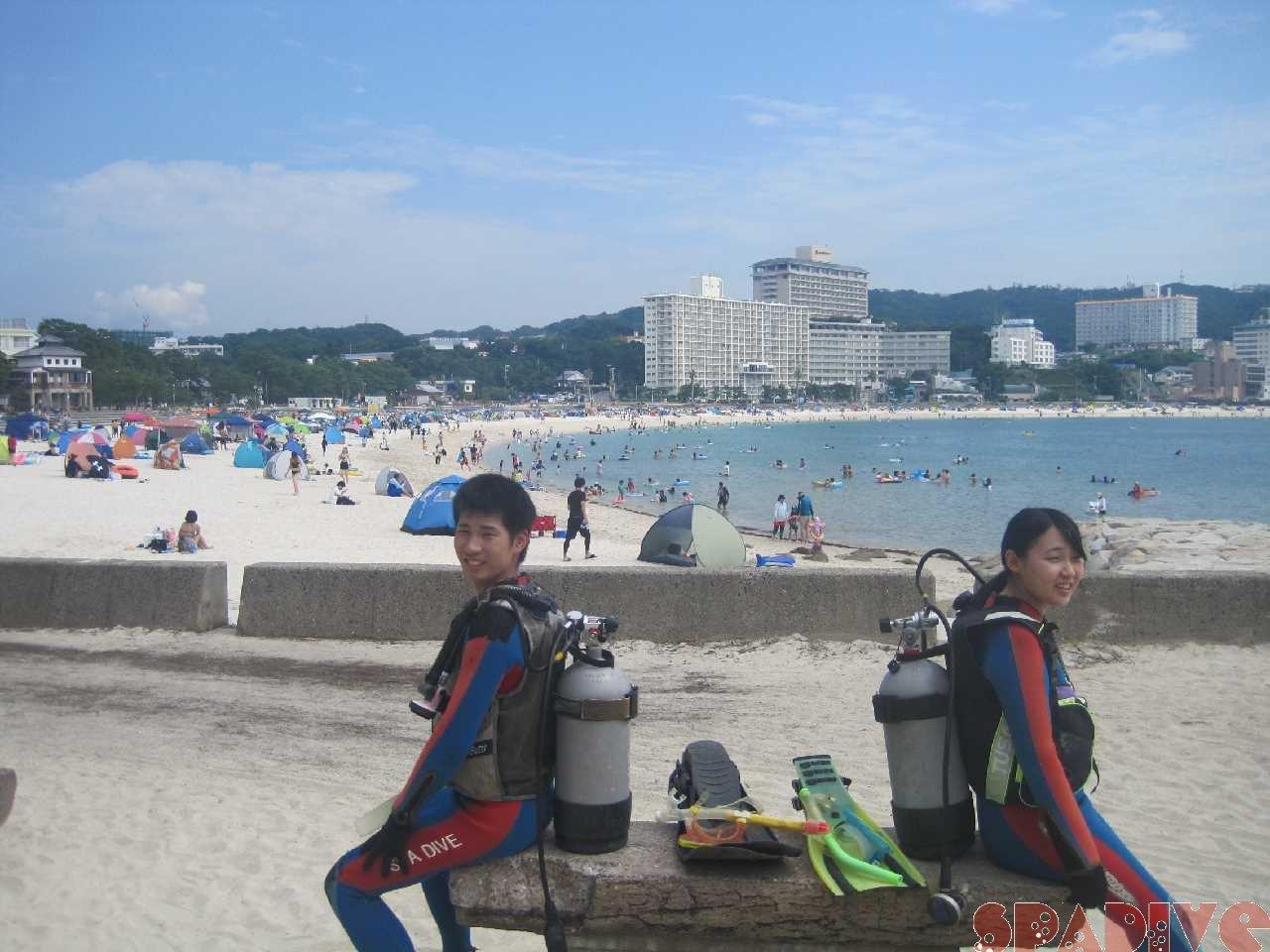 8月3日の白良浜日中画像
