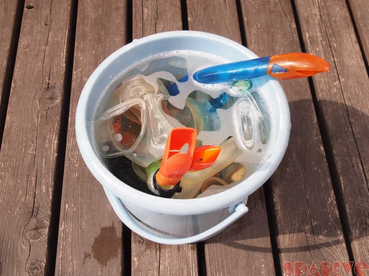 水中メガネ(マスク)とシュノーケルの洗浄・除菌・消毒方法