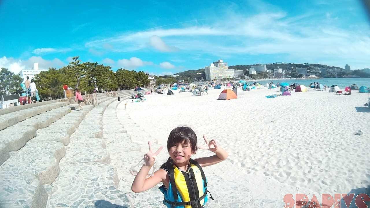 白浜8月10日の白良浜画像1