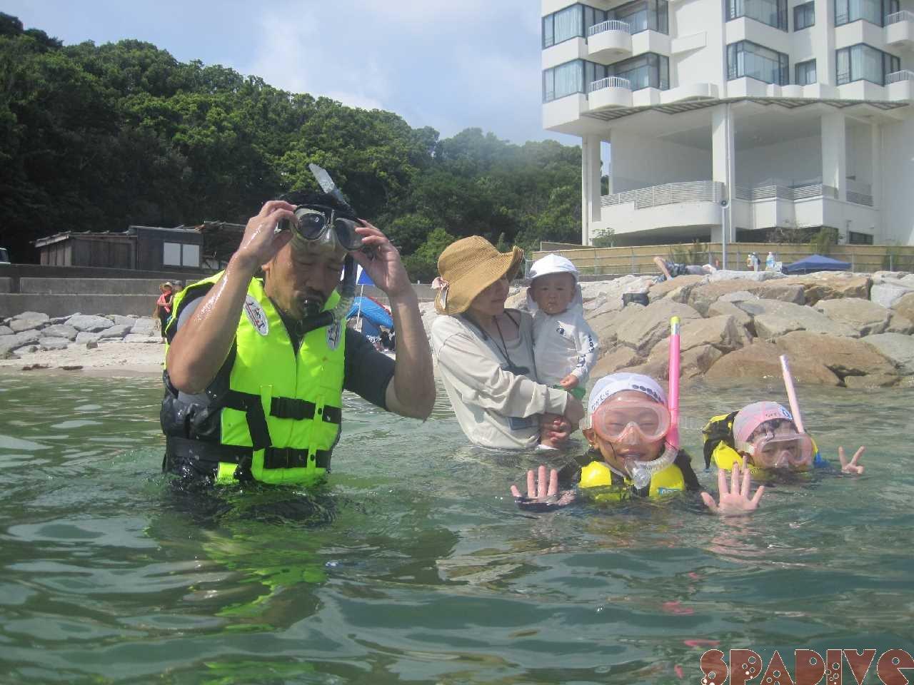 8/30/20体験ダイビング&シュノーケリング&海遊び|白浜権現崎