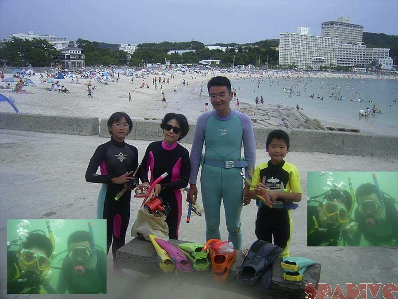体験ダイビング9歳バブルメーカー 8/3/2004白浜権現崎