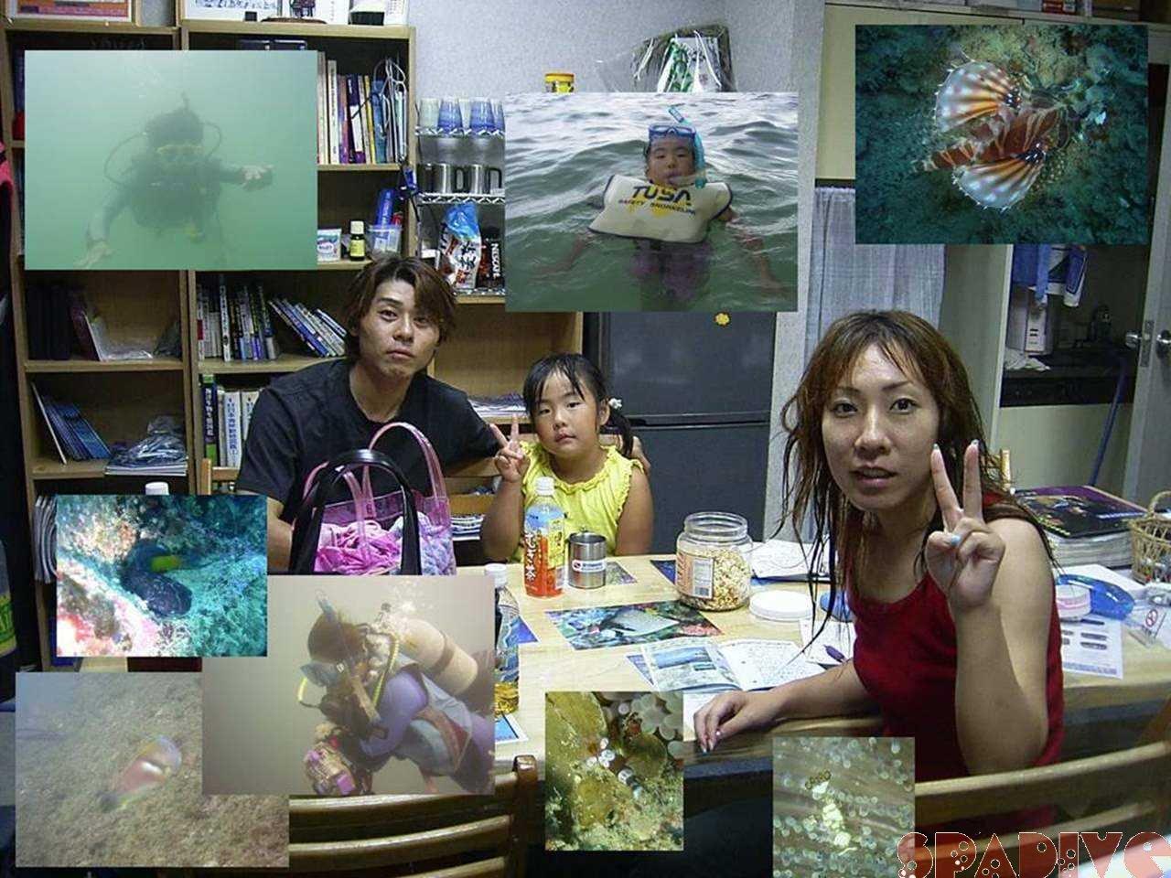 ペイマンケーブ&三段壁&権現崎ファン&体験ダイビング 8/8/2004