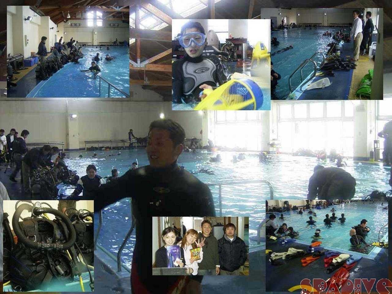 器材モニター会でプールトレーニング|3/27/2005白崎海洋公園