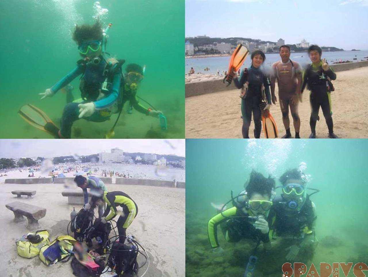 体験ダイビング&ライセンス取得コース初日|8/17/2005白浜