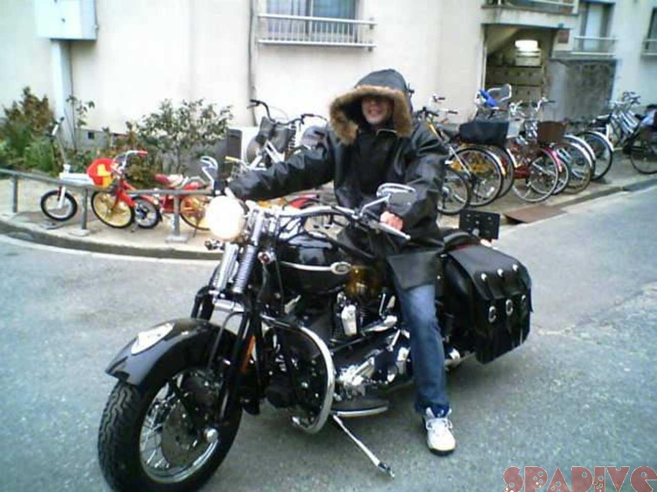 初のり-Harley Davidson|弟のバイクにちょい乗り|1/4/2006