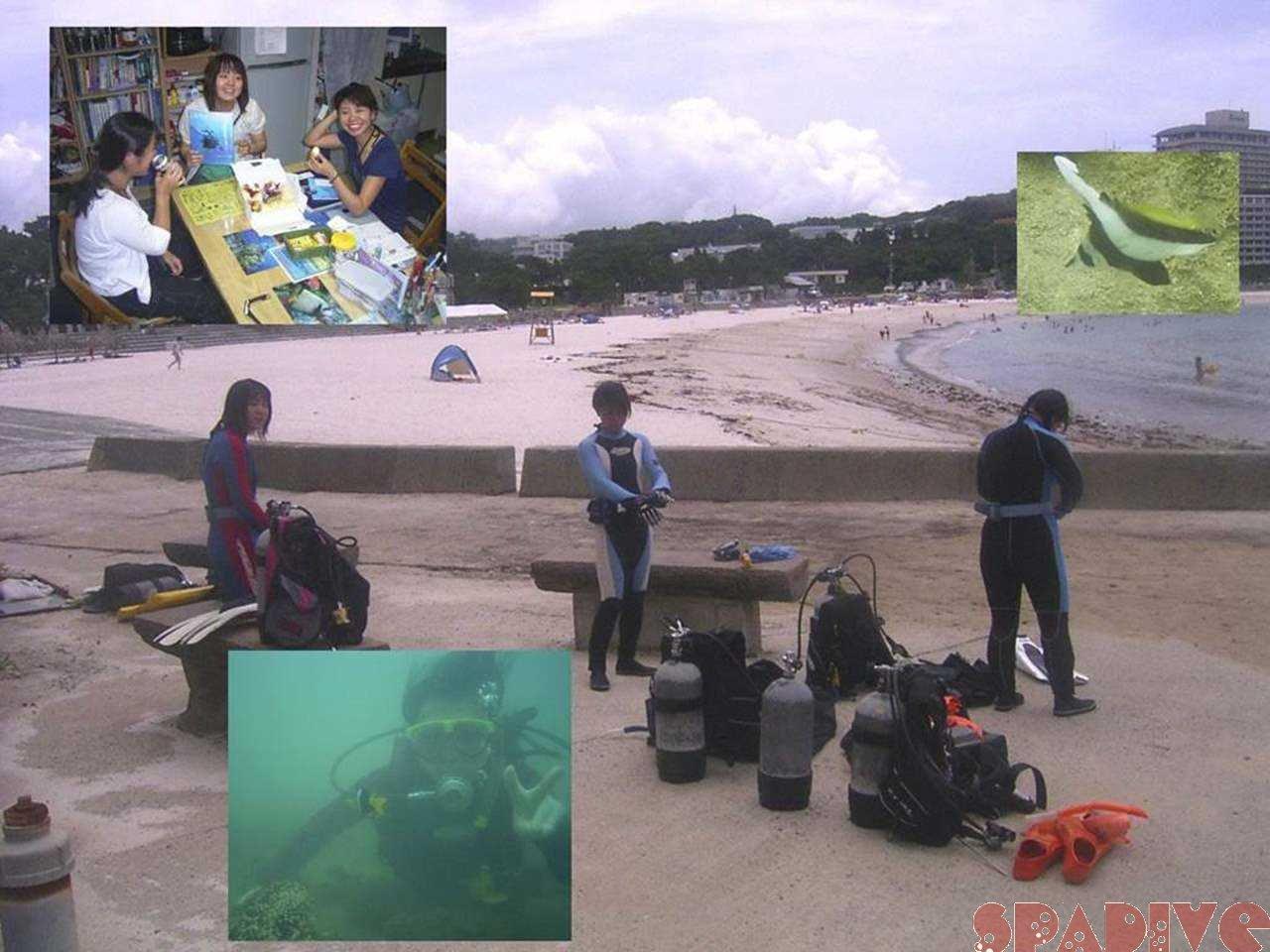 2人のbirthdayダイブと体験ダイビング 7/12/2006白浜