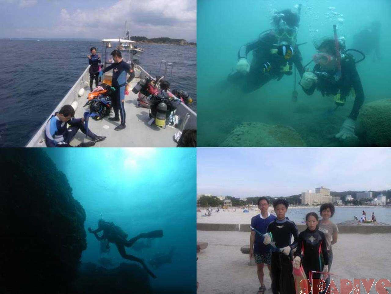 沈船&三段壁ボート&権現崎ビーチ|AOWとSPダイブ|8/27/2006白浜