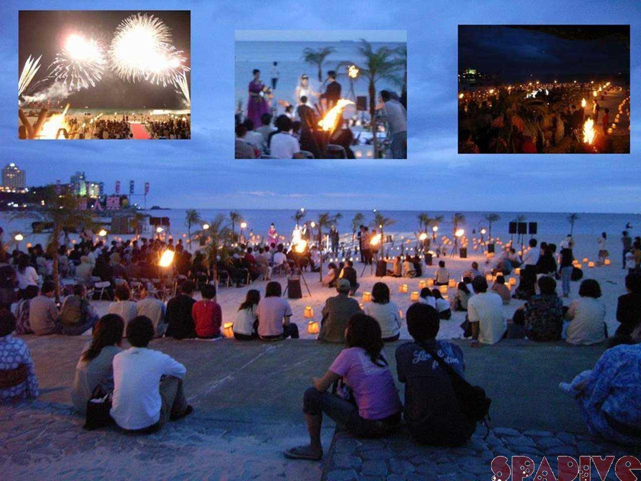 白良浜サンセットウエディング&祝福花火|6/3/2007海人祭-前夜祭