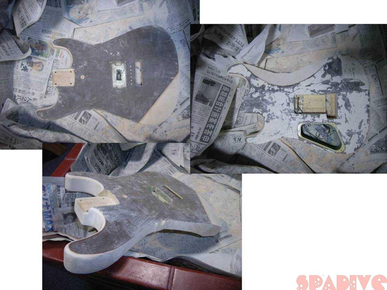 シャーベル/CHARVELストラトギターのボディー改造その2|2/27/2007