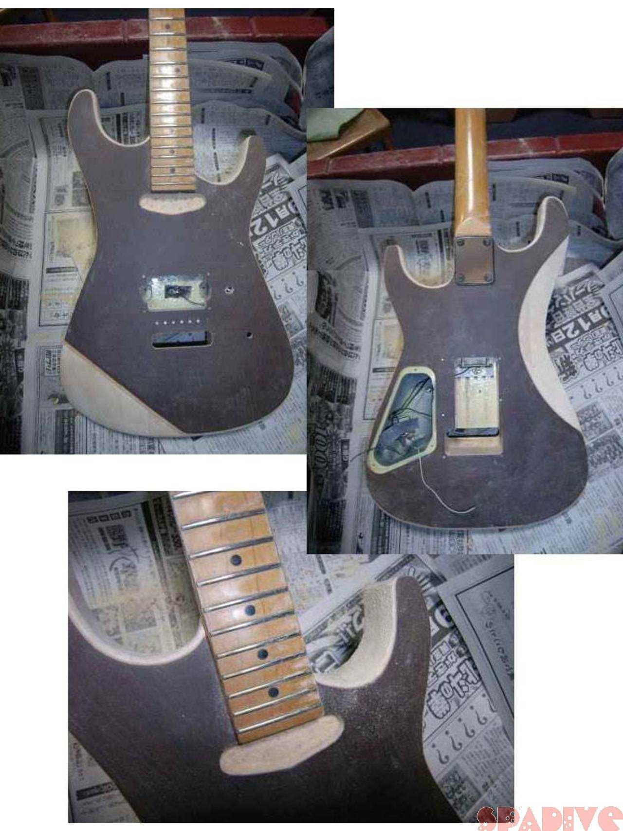 シャーベル/CHARVELストラトギターのボディー改造その3|2/28/2007