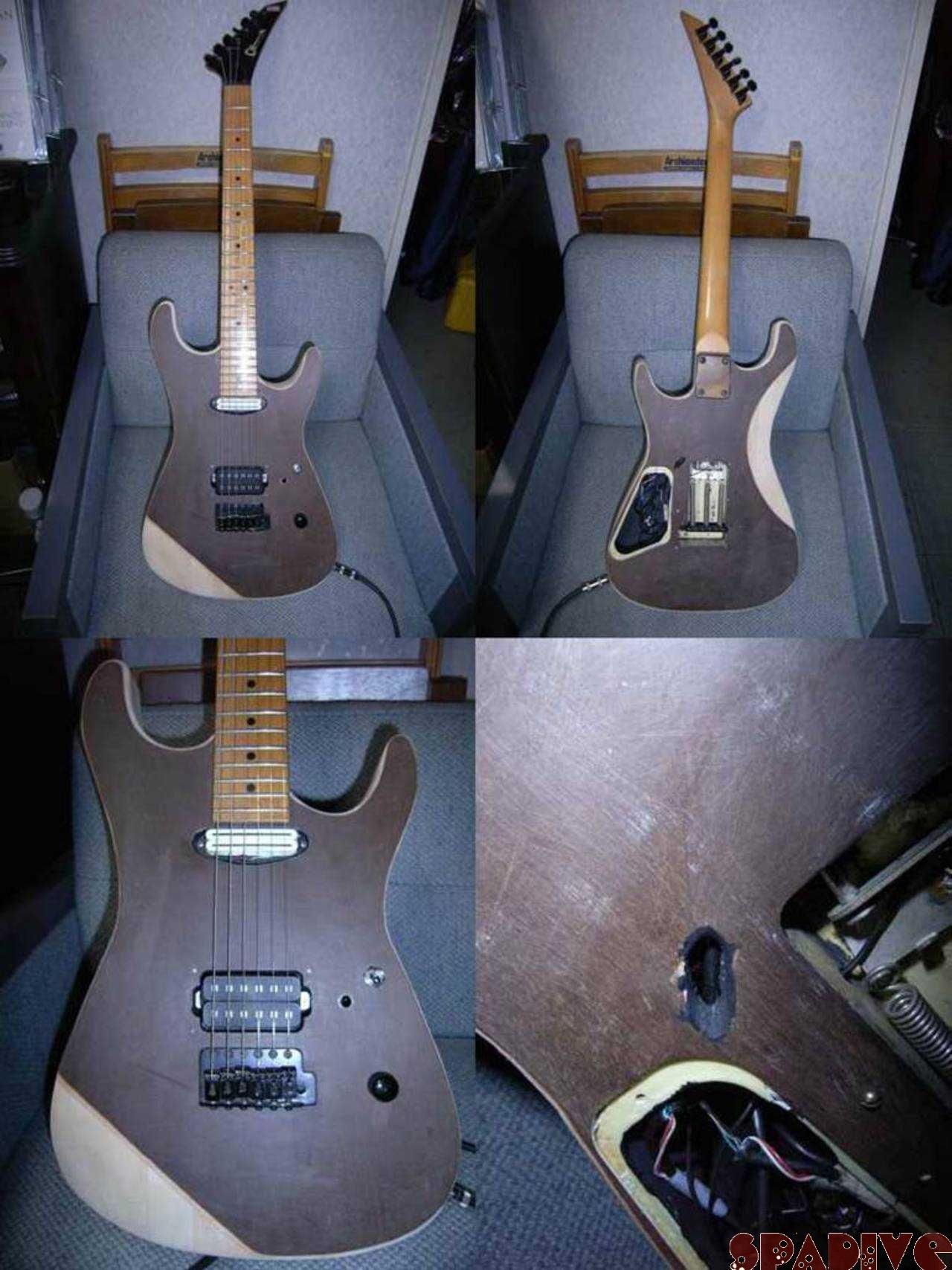 シャーベル/CHARVELストラトギターのボディー改造その4|3/2/2007