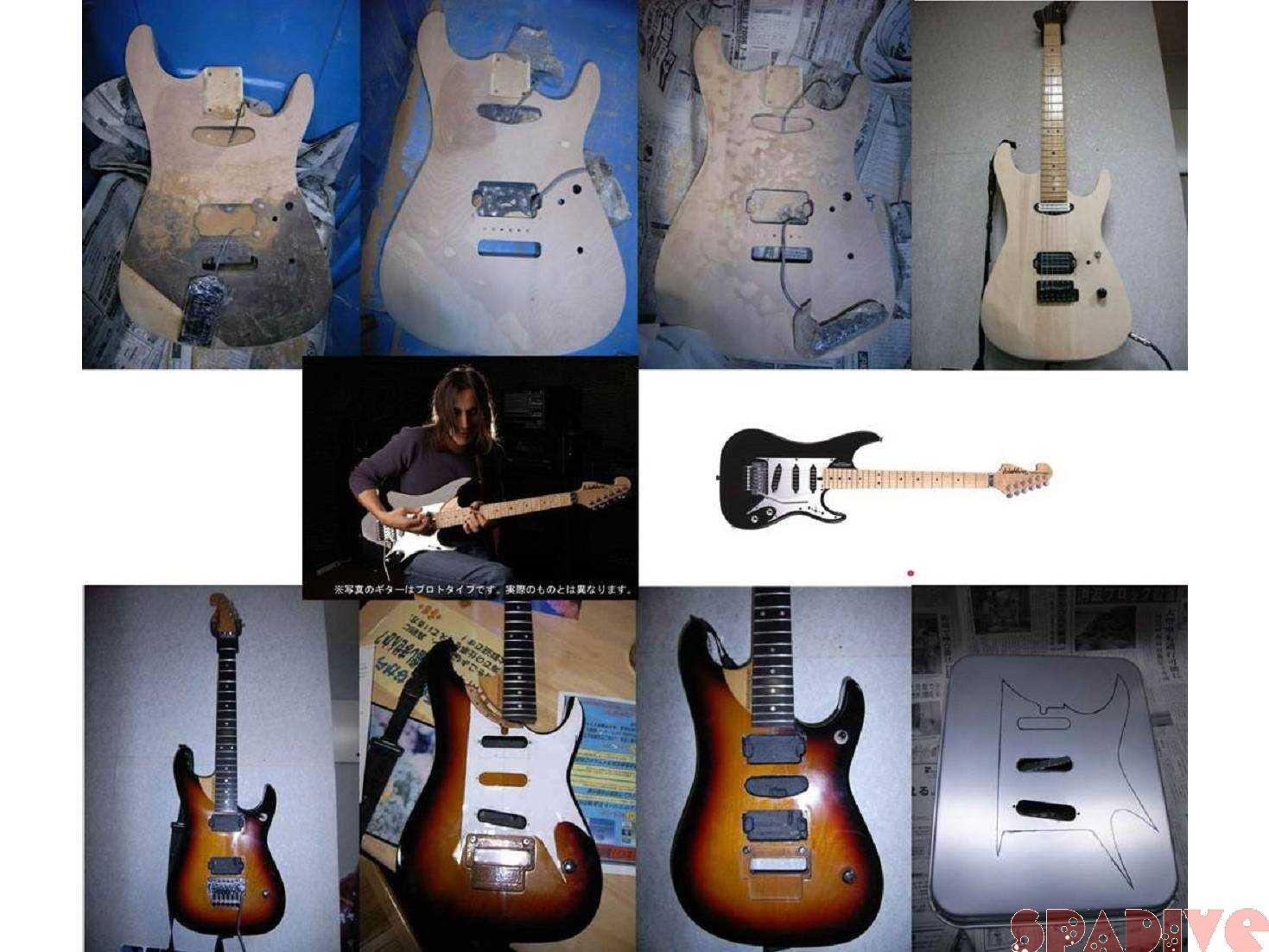 CHARVELギターボディー改造その5&Washburn N4改造N5化|3/17/2007