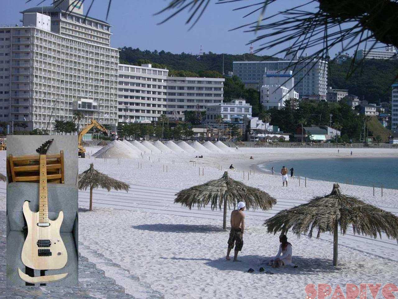 暑い暑い「砂まつり」準備|シャーベルギター改造|5/24/2007