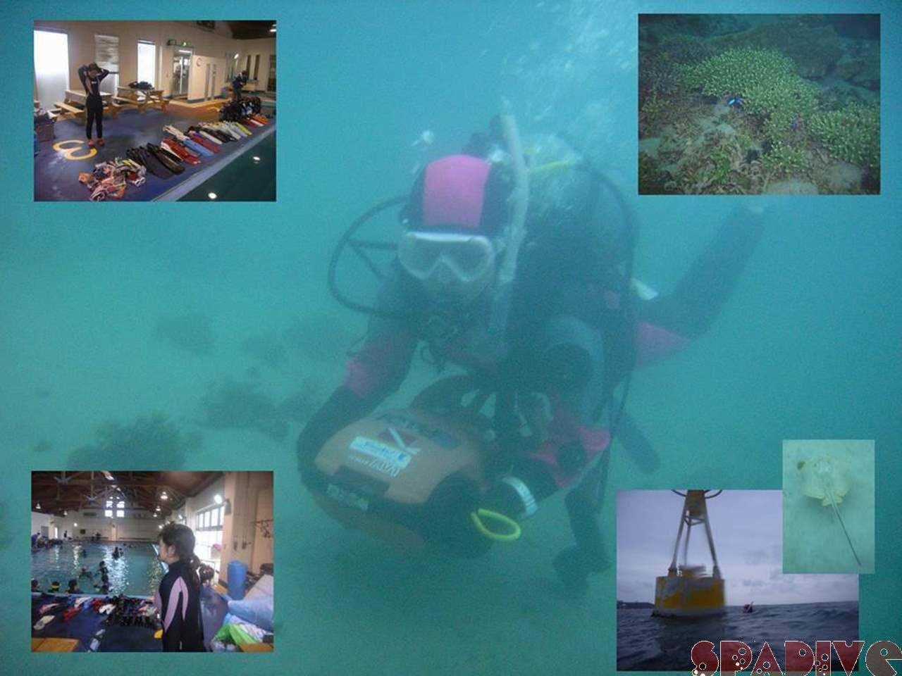 白崎海洋公園で器材モニター会|白浜で水中スクーター|3/24/2007