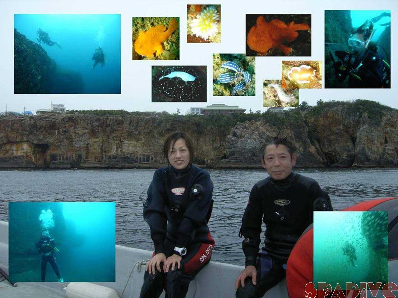 三段壁&沈船ボートファンダイブ|AOWアドバンス|4/18/2007白浜