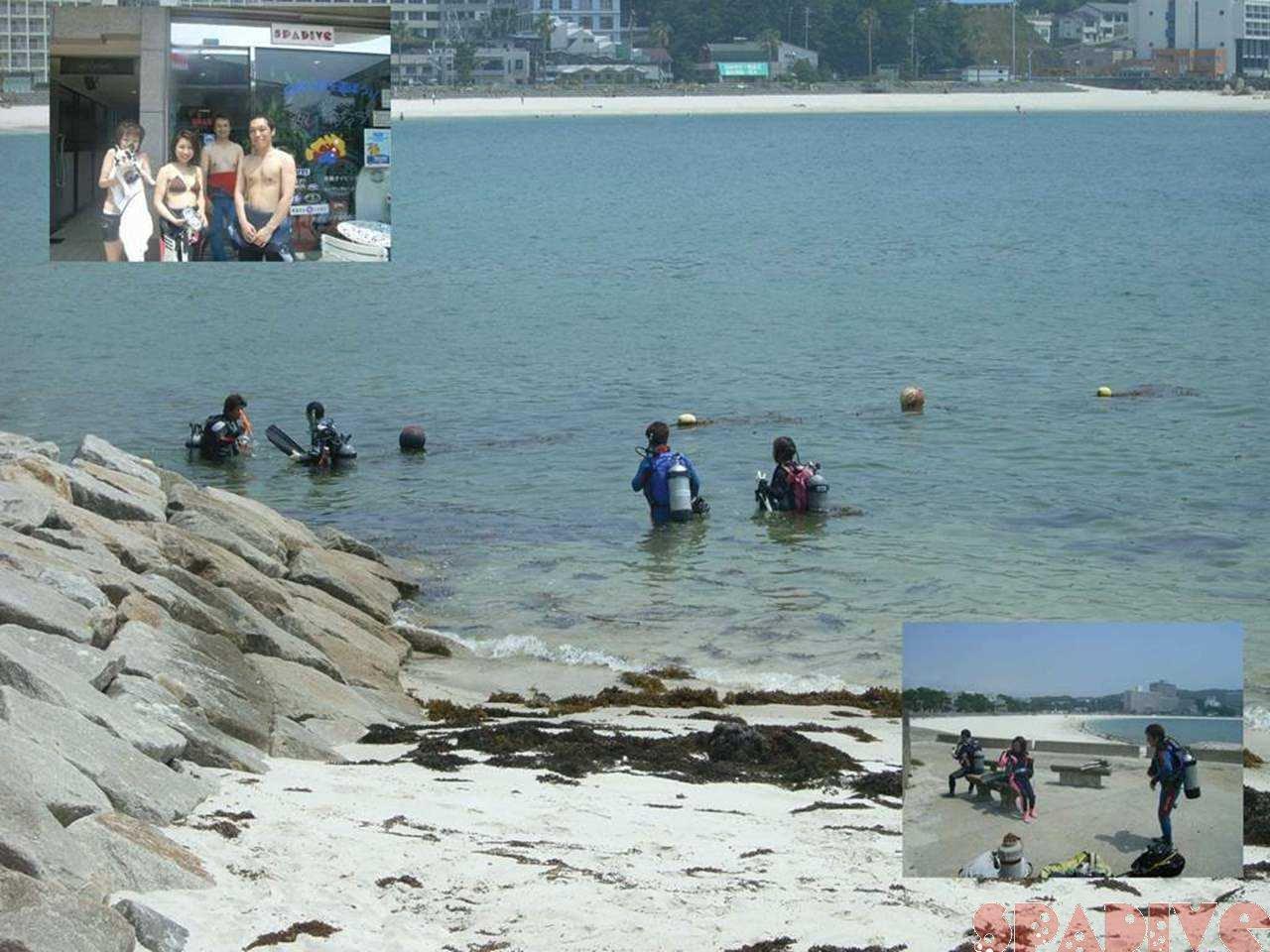 オープンウォーターコース&体験ダイビング 6/26/2007白浜