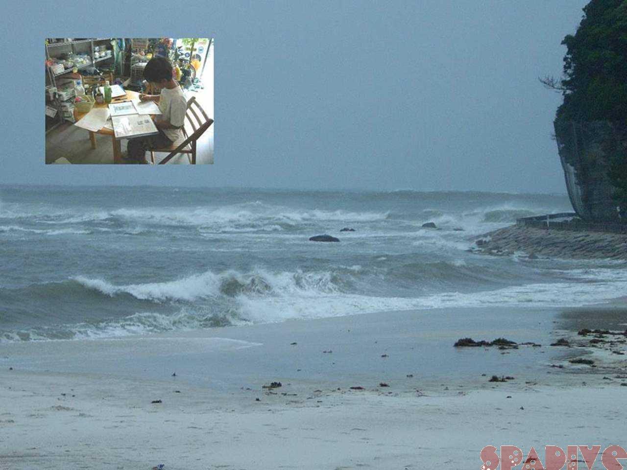 OWDライセンス学科講習|海は台風でクローズ|7/14/2007