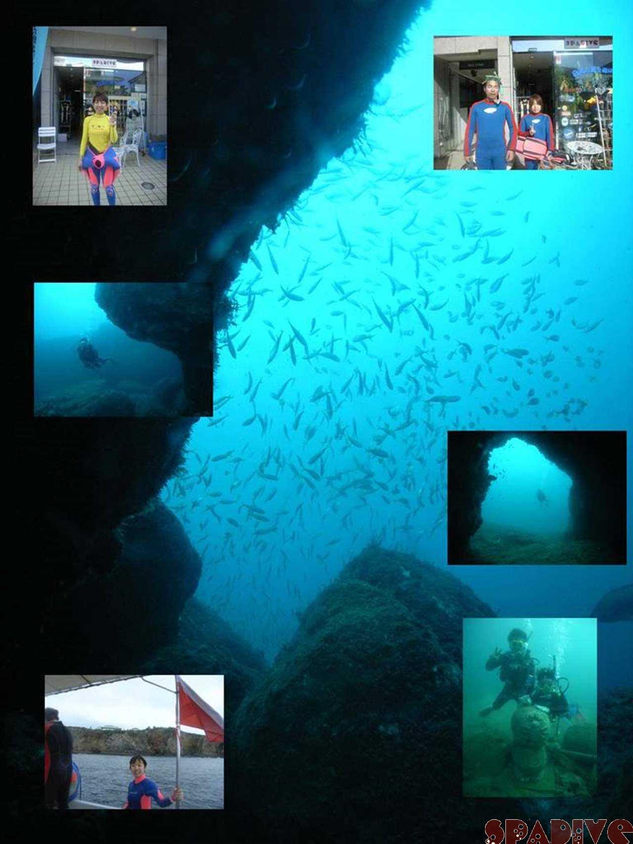 三段壁&Wアーチボートファン|体験ダイビング|9/25/2007白浜