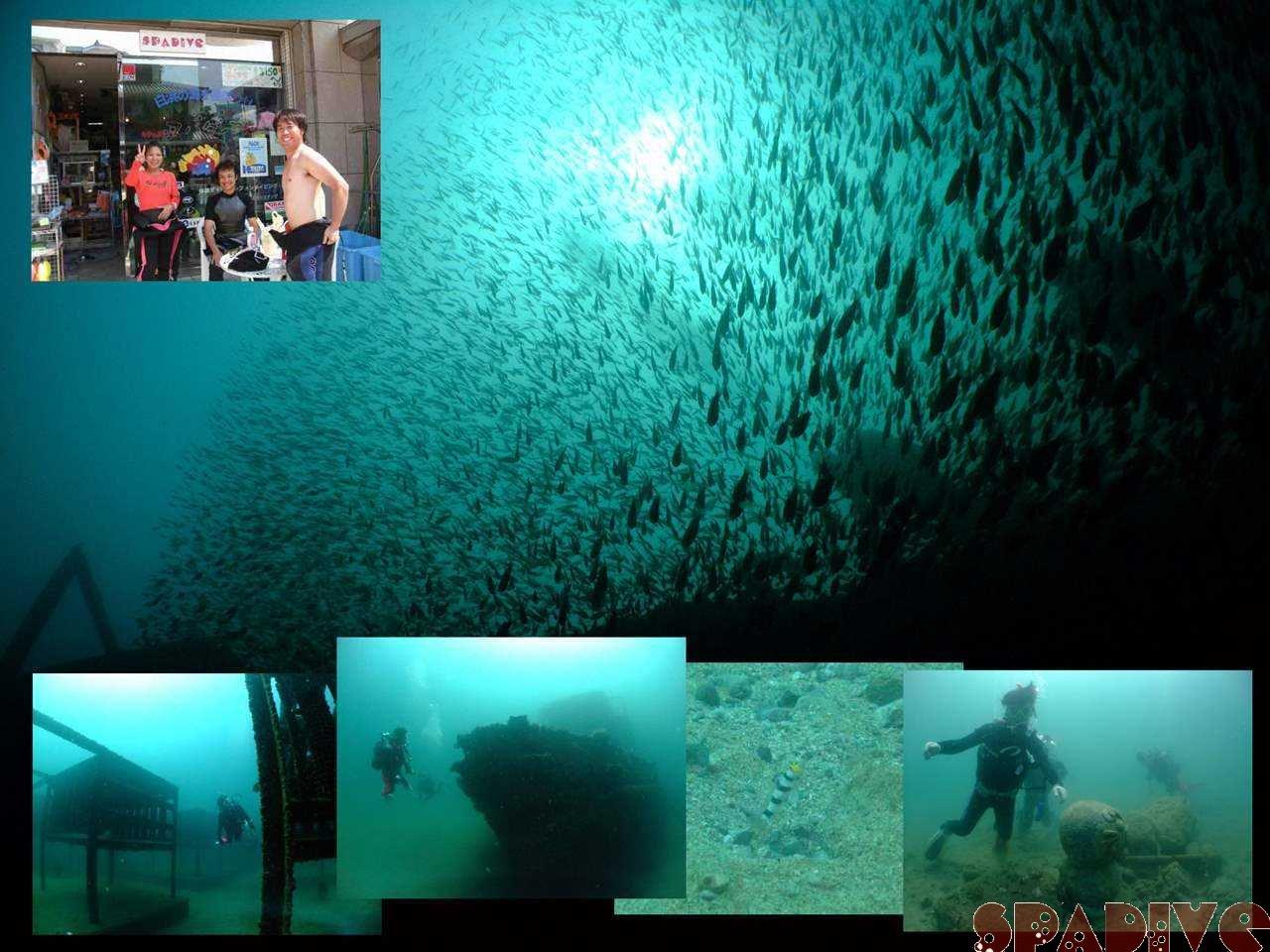 沈船ボートファンダイブ|OWDライセンス取得スクール|9/10/2008