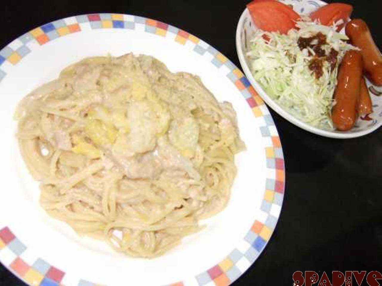初挑戦!!なんとか食べれたクリームパスタ(^^ゞ