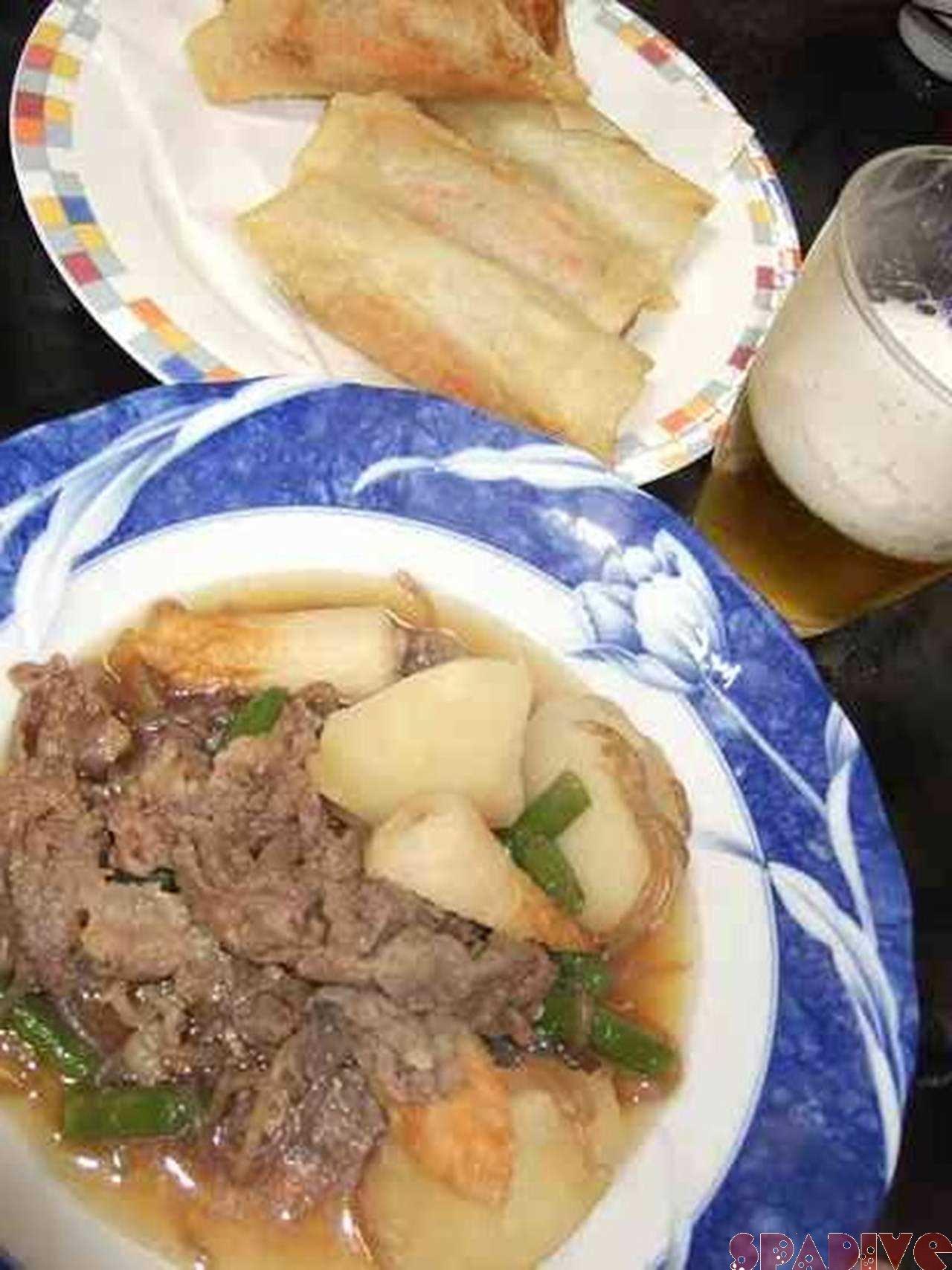 肉じゃが&和風春巻き夕ご飯|2/26/2010