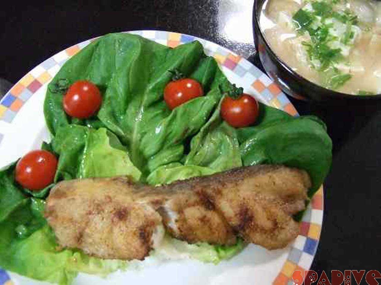 夕飯:鱈のムニエル!!|4/17/2010のしらら浜☆