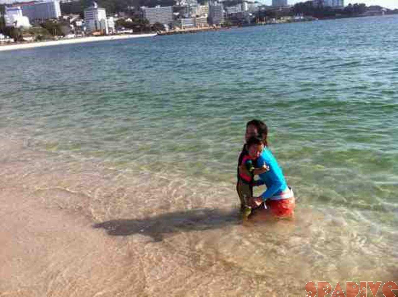 我が家の海開き♪6/23/2011白良浜
