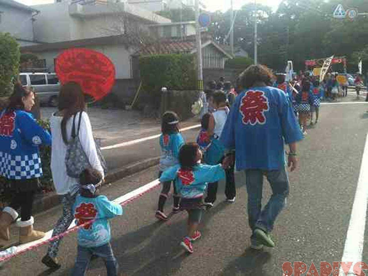 熊野三所神社例大祭へ娘と参加の2日間 10/16-17/2011
