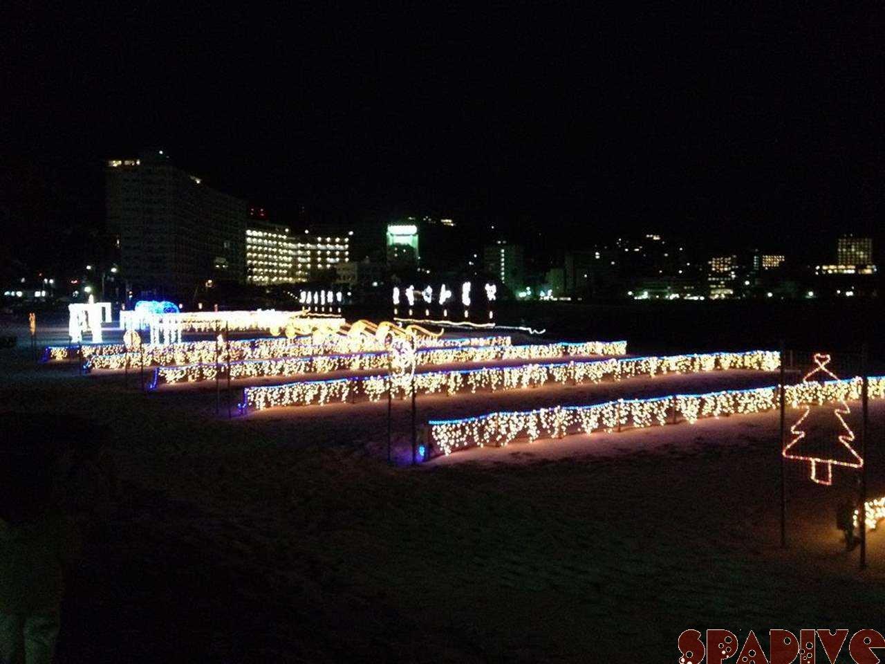 白良浜イルミネーション♪2/17/2012