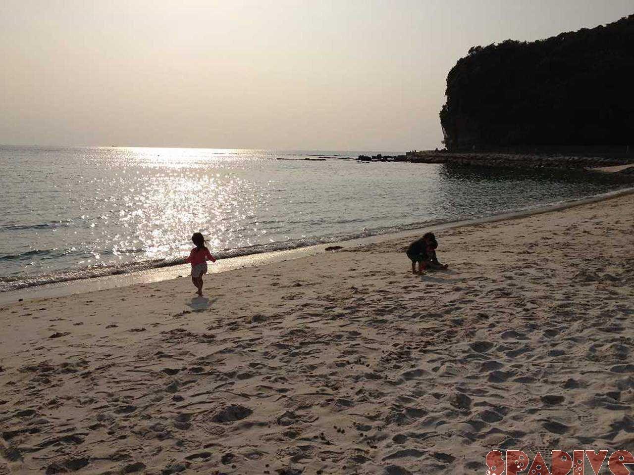 癒しの白良浜~夕日☆4/8/2012