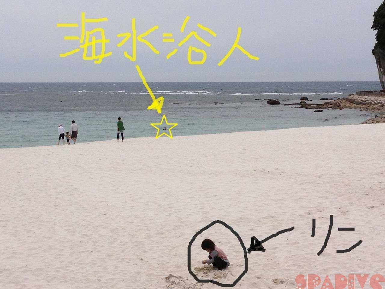 日曜日の白良浜。海水浴人だぁ~\(◎o◎)/!2012/5/13