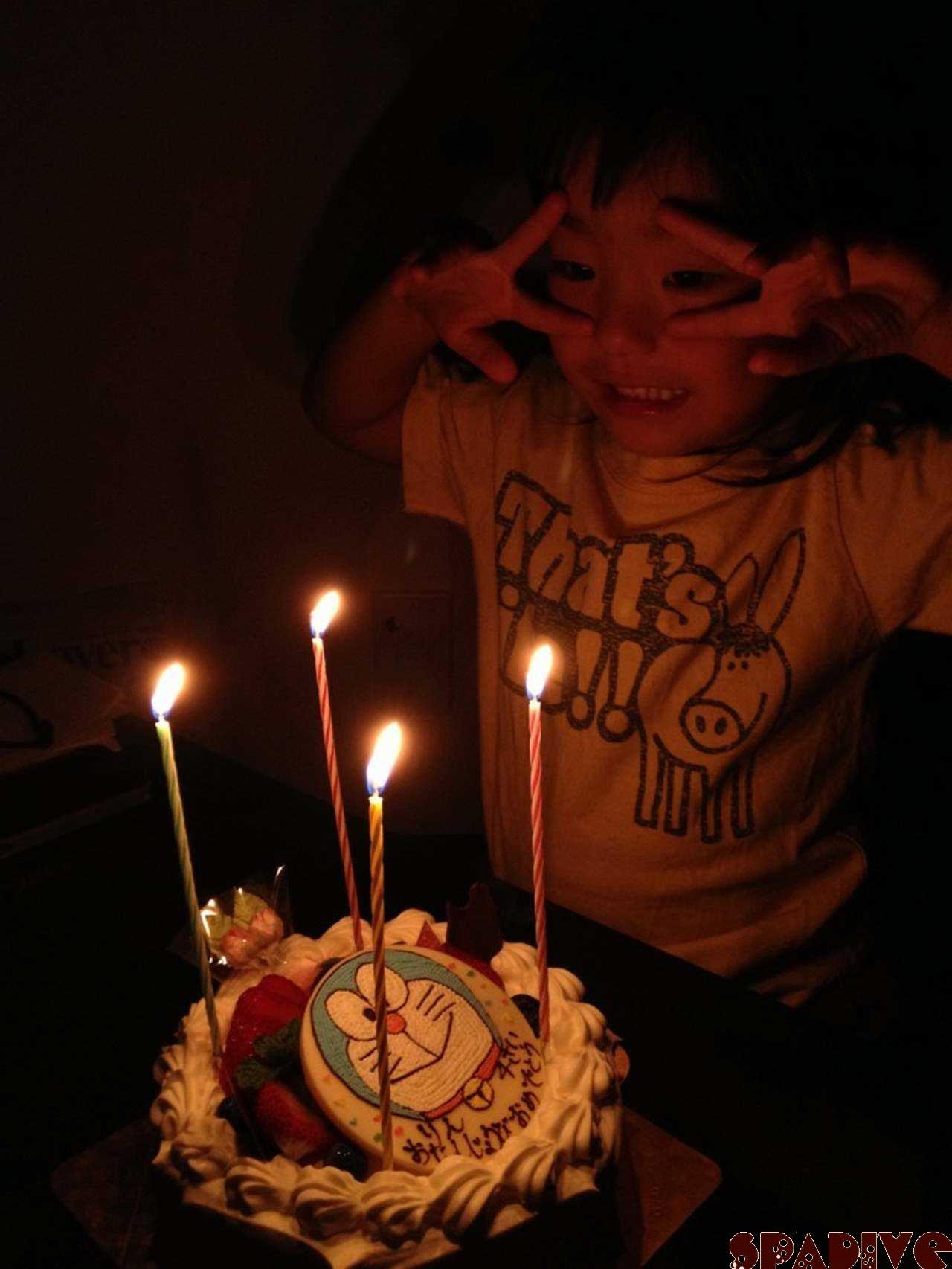 長女の4歳誕生日♪9/26/2012
