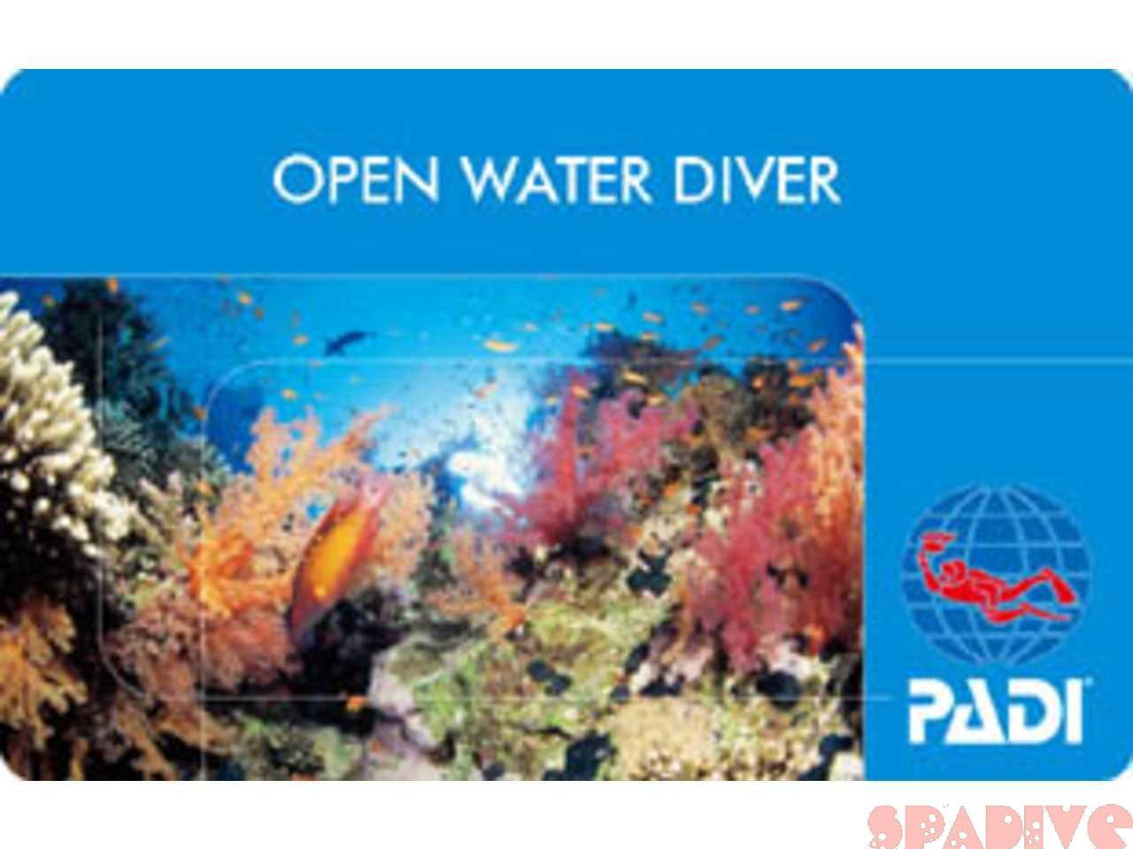 PADI通常ブルー背景カード