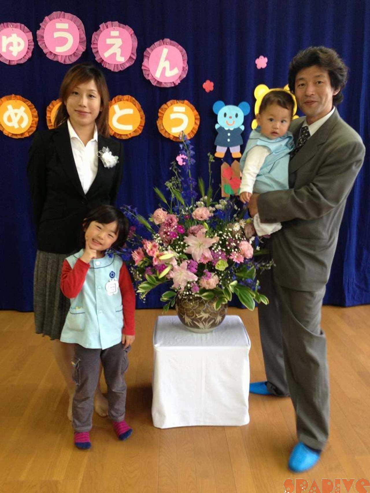 次女の保育園入園式。4/6/2013