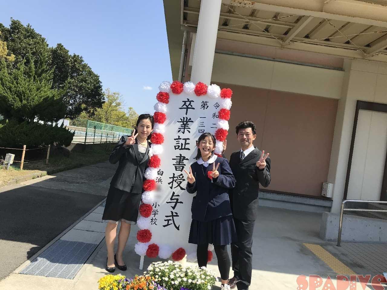 長女の小学校卒業式 初めてのわが子卒業式 3/23/2021